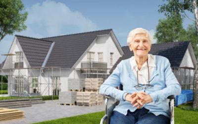 Haus behindertengerecht und altersgerecht umbauen für alte Frau im Rollstuhl